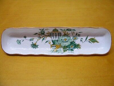 Crown Staffordshire KowLoon Small Tray Dish England Green Yellow White Vintage