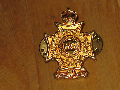 QC Canadian Collar Badge Fusiliers Mont Royal