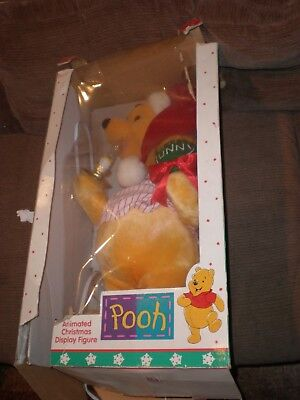 Vintage Winnie The Pooh W/ Honey Motion Animated Christmas Display