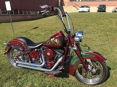 Harley-Davidson FLSTFI  2002 CUSTOM FAT BOY FLSTFI SHOW STOPPER/MAGAZINE COVER BIKE FULLY BUILT NO RESRV