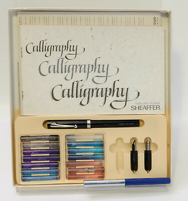 Sheaffer Calligraphy Fountain Pen with Instructions, Extra Pens