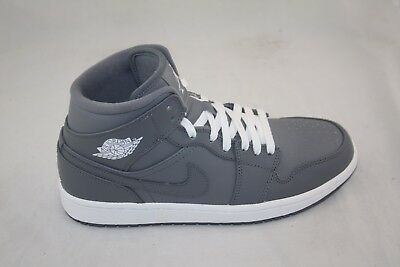 best cheap ab807 39c1b New Men s Nike Air Jordan 1 Mid 554724-003 Cool Grey white Msrp  105.00