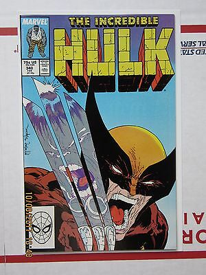 Incredible Hulk 340  VF/NM  9.0  Wolverine Gray Hulk  McFarlane  High Grade 1988