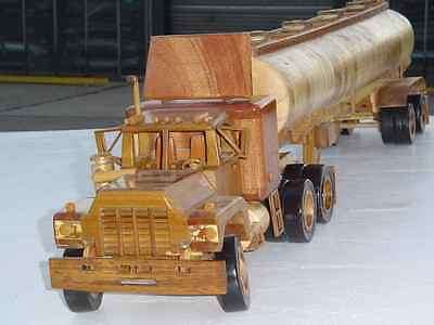 Dads own Timber Mack truck and timber tanker trailer - One of a kind hand made