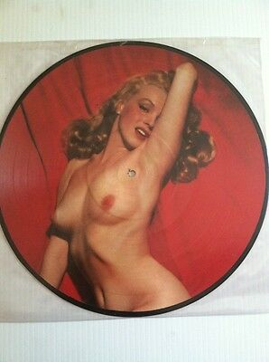 MARILYN MONROE PICTURE RECORD DISK NUDE Danish 1984
