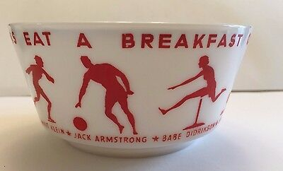 """Old """"Eat a Breakfast of Champions"""" Wheaties Cereal Bowl with 9 Athletes"""