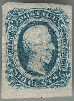 CSA-Stamp MINT MOUNTED confederate States of América #11a