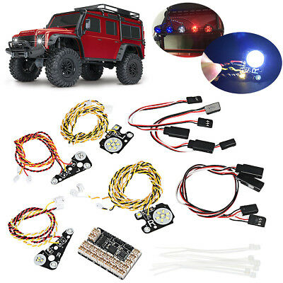 LED Front + Rear lights + IC Lamp Group Cups Lampshade for TRAXXAS Trx4 RC CAR