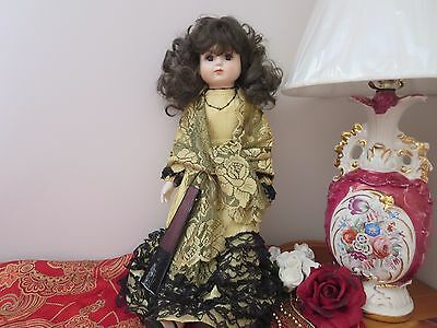 Beautiful Musical Porcelain Doll - Leonardo Strassi Tailored by Park Hall