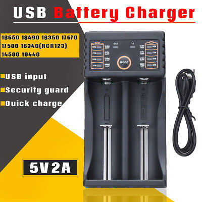 Lii-202 2 Slot USB Battery Charger 5V 2A For 18650 26650 16340 14500 Battery