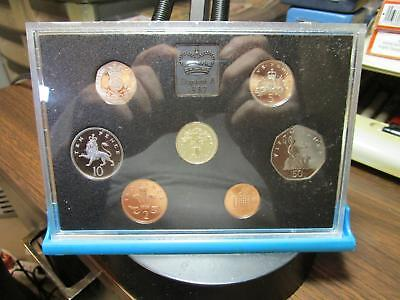 1987 - Great Britain - 7 Coin Proof Set - KM - PS51      (G-36)