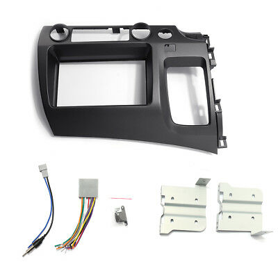 For 06-11 Honda Civic Taupe Radio Stereo Double 2 Din Dash Kit w/ Wiring Harness