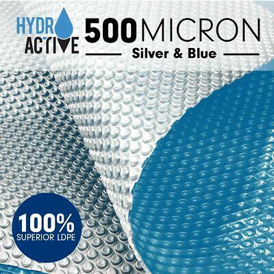 HydroActive Solar Swimming Pool Cover 500 Micron Outdoor Bubble Blanket Heater