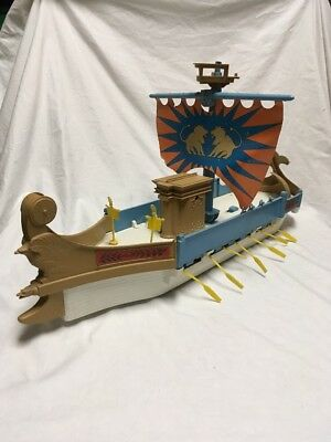 """Remco Gallant Gladiator Vintage Playset Ship Box  1960s Toy- 29""""inches"""