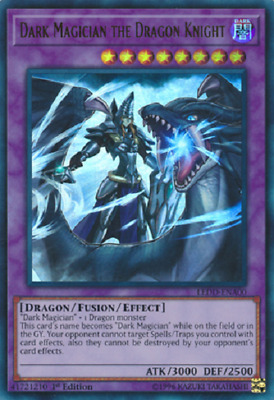 Yugioh Dark Magician the Dragon Knight LEDD-ENA00 - Ultra Rare 1st Edition NM/M