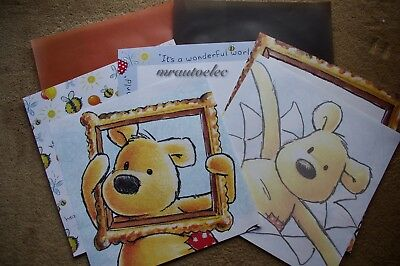 Pooh Bear Scrapbook 12x12 themed papers with Vellum