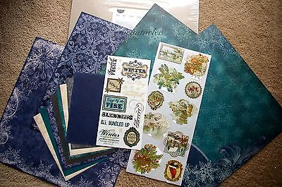 Creative Memories Reminisce Winter 12x12 Additions Kit / Paper