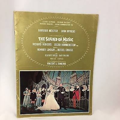 The Sound of Music Program Guide Barbara Meister John Myhers