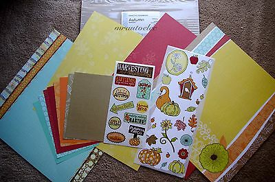 Creative Memories Autumn 12x12 Additions Kit harvest Pumpkin Leaves Fall
