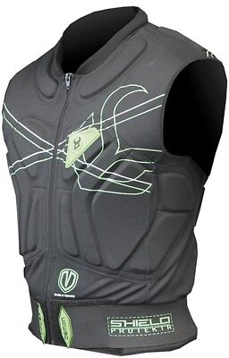 Demon Shield Vest Snowboard/Ski Body Armour XS Black/Green