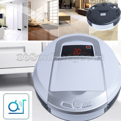 NEW Home Automatic Robot Robotic Vacuum Floor Cleaner Sweeper Rechargable White