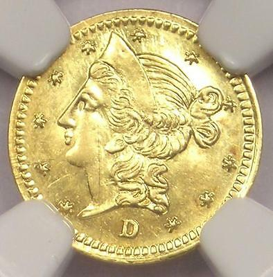 1853 Liberty 50C California Gold Half Dollar BG-420. NGC UNC MS. Rarity-7 (R7)!