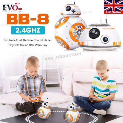BB-8 2.4GHz RC Robot Ball Remote Control Planet Boy with Sound Star Wars Toy