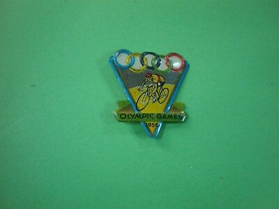 OLYMPIC GAMES 1956 TIN CYCLING BADGE postage & package FREE.