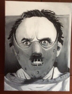 Hannibal Lecter / Silence Of The Lambs Hand Painted Canvas!!!!!!