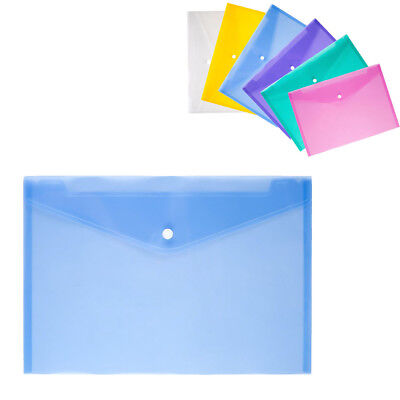 Hot Assorted Button Folder Office Environmental Protection Plastic Folders A4