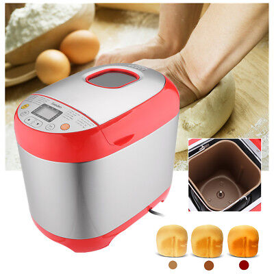 220V Electric Automatic Bread Maker Machine With 19 Programmes Stainless Steel