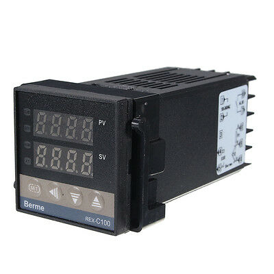 PID Digital LCD REX-C100 Temperature Controller set max 40A Thermocouple Hot