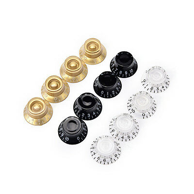 4pcs Guitar Knobs Speed Control Volume Tone for Guitar Replacement Accessory FT