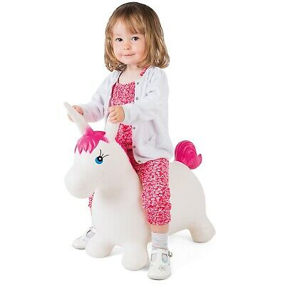 Bouncy Unicorn Hopper Kids Inflatable Hopper Ride On Bouncer Toy With Pump