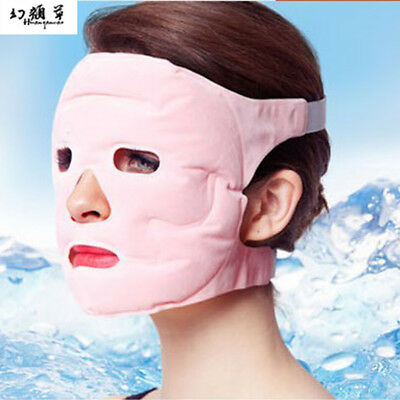 Hot Ice Pack Cooling Face Mask Pain Headache Relief Chillow Pillow Relaxing Gel