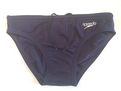 "Boys Navy Blue SPEEDO Endurance+ Swimming Trunks Size 26"" - Briefs Plain Pool"