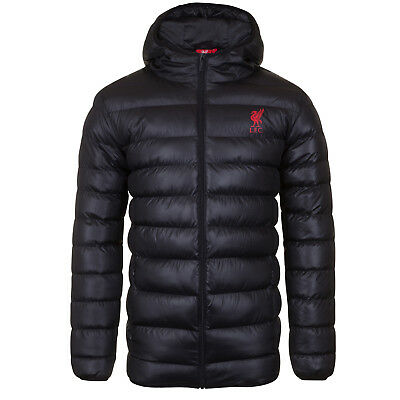 Liverpool FC Official Football Gift Mens Quilted Hooded Winter Jacket