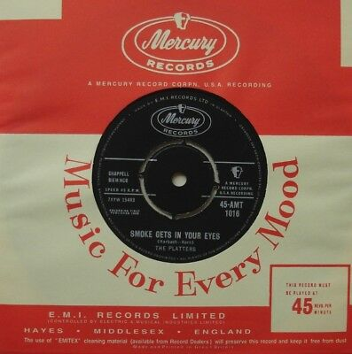 Platters, Smoke Gets In Your Eyes, N/mint Mercury, 7Inch 45Rpm