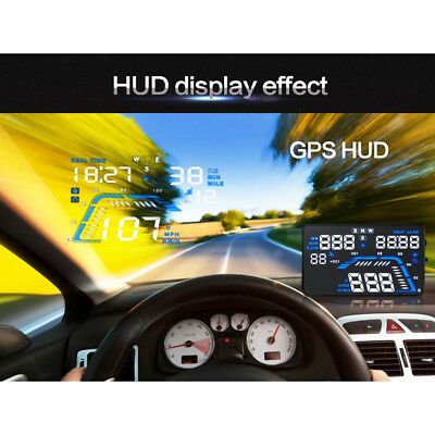 "Hot Q7 Car GPS HUD Head Up Display 5.5"" Overspeed Warning Speedometer ProjectorM"