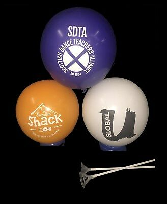 5000 Printed Balloons With 2 Piece Balloon Cups & Sticks - Promotional Branded