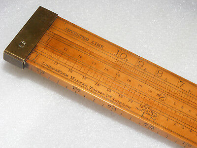 """24"""" CUSTOMS SLIDE RULE FOR TIMBER BY DRING & FAGE, 19th c."""