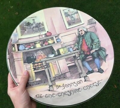 Royal Doulton Large Dr Johnson Cheshire Cheese Character Plate Charger