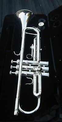 Silver Hawk trumpet , mouthpiece and carrying case