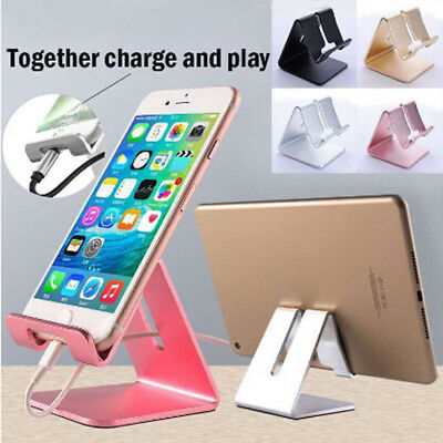 Aluminum Desk Stand Holder Desktop For Mobile Phone Tablet iPad iPhone 4Colors