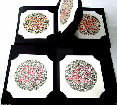 24 Plate Ishihara Test Chart Book Ophthalmology Optometry Vision Color Blindness