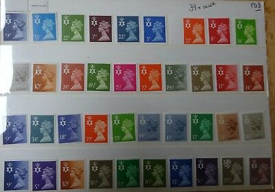 Northern Ireland Regional Stamps 39 x MNH