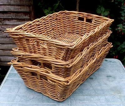 3 Matching Vintage French Wicker Baskets !