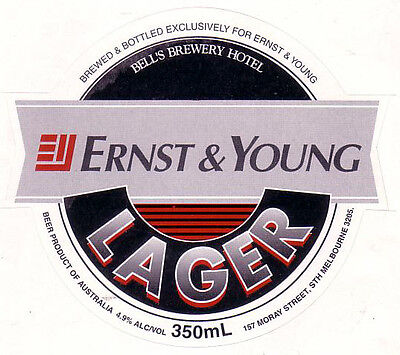 Vic.  Bell's Ernst & Young Lager.  Mint.