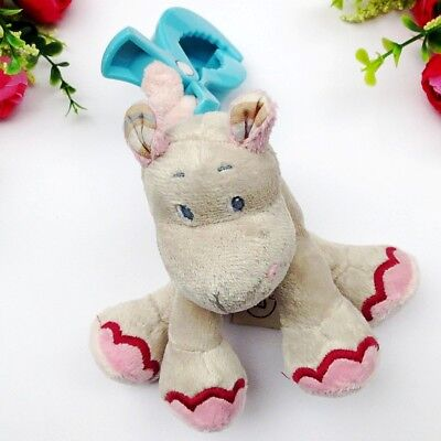 Bizou Baby Child Kid Soft Stuffed Rattle Flutter Jitter Hippo On the Go Toy Doll