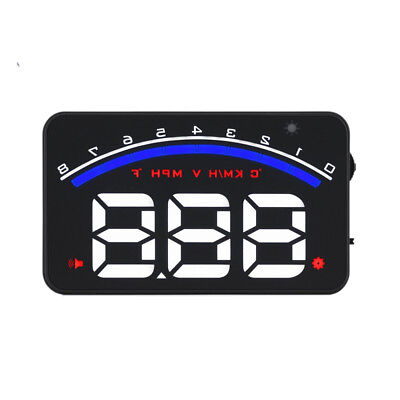 M6 OBD2 Car HUD Head Up Display MPH/KMH Speed Temp Warning Speedometer MD